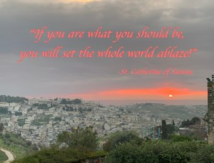 If you are what you should be, you will set the whole world ablaze. St. Catherine of Sienna