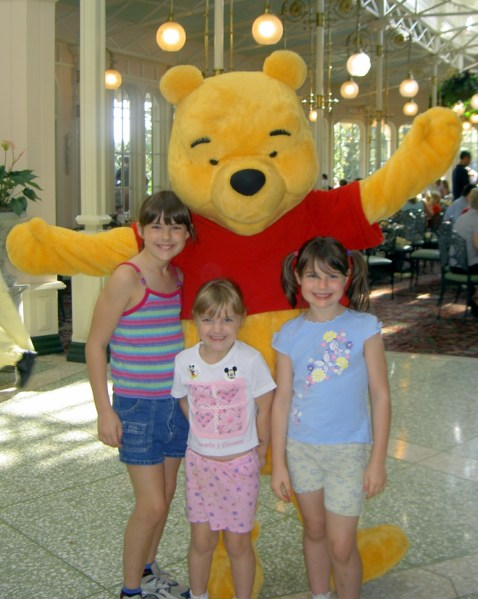 Pooh breakfast Pooh and girls
