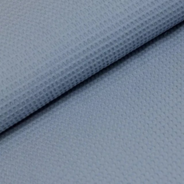 Wafel-Licht Jeans Blauw