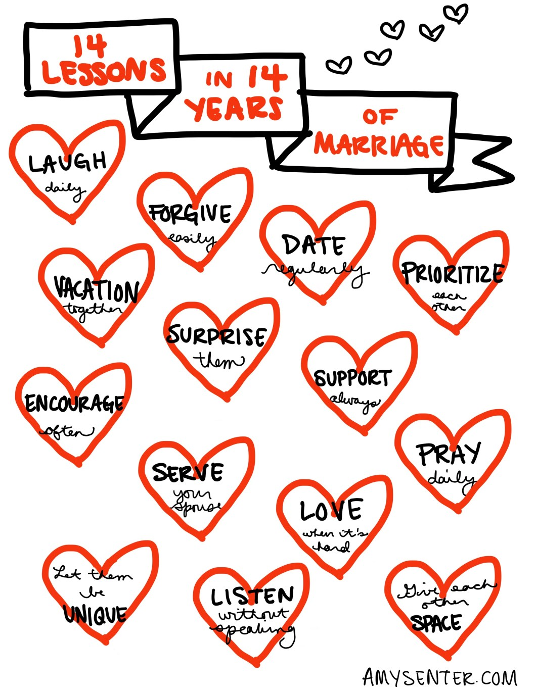 14 lessons in 14 years of marriage printable