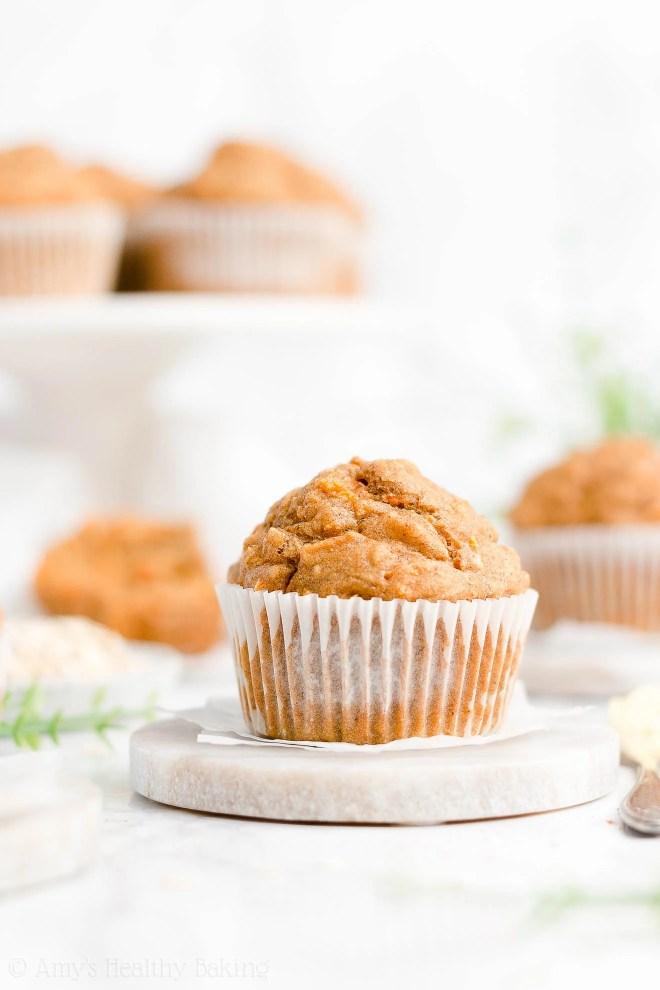 Best Easy Healthy Low Fat Sugar Free Moist Carrot Cake Oatmeal Muffins
