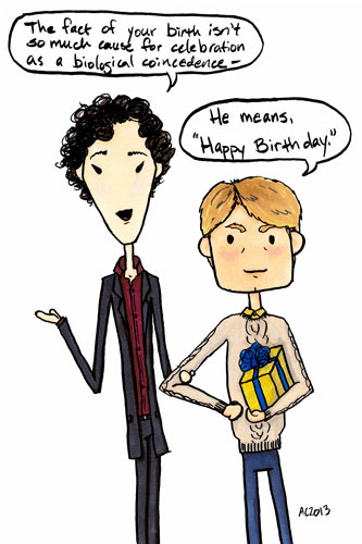 Sherlock Birthday « Antemortem Arts Fine Art & Custom