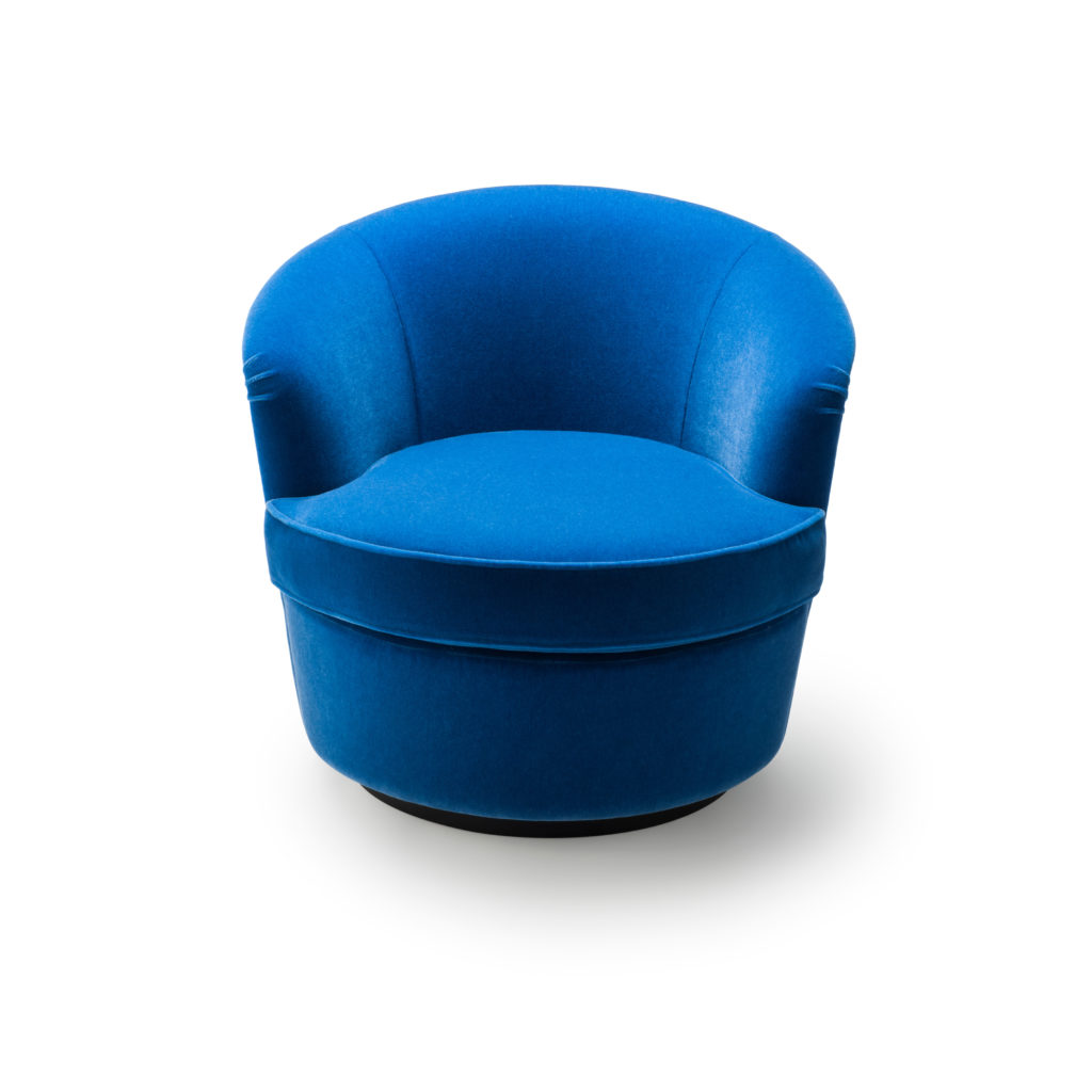 Blue Swivel Chair Floradora Swivel Chair Amy Somerville London