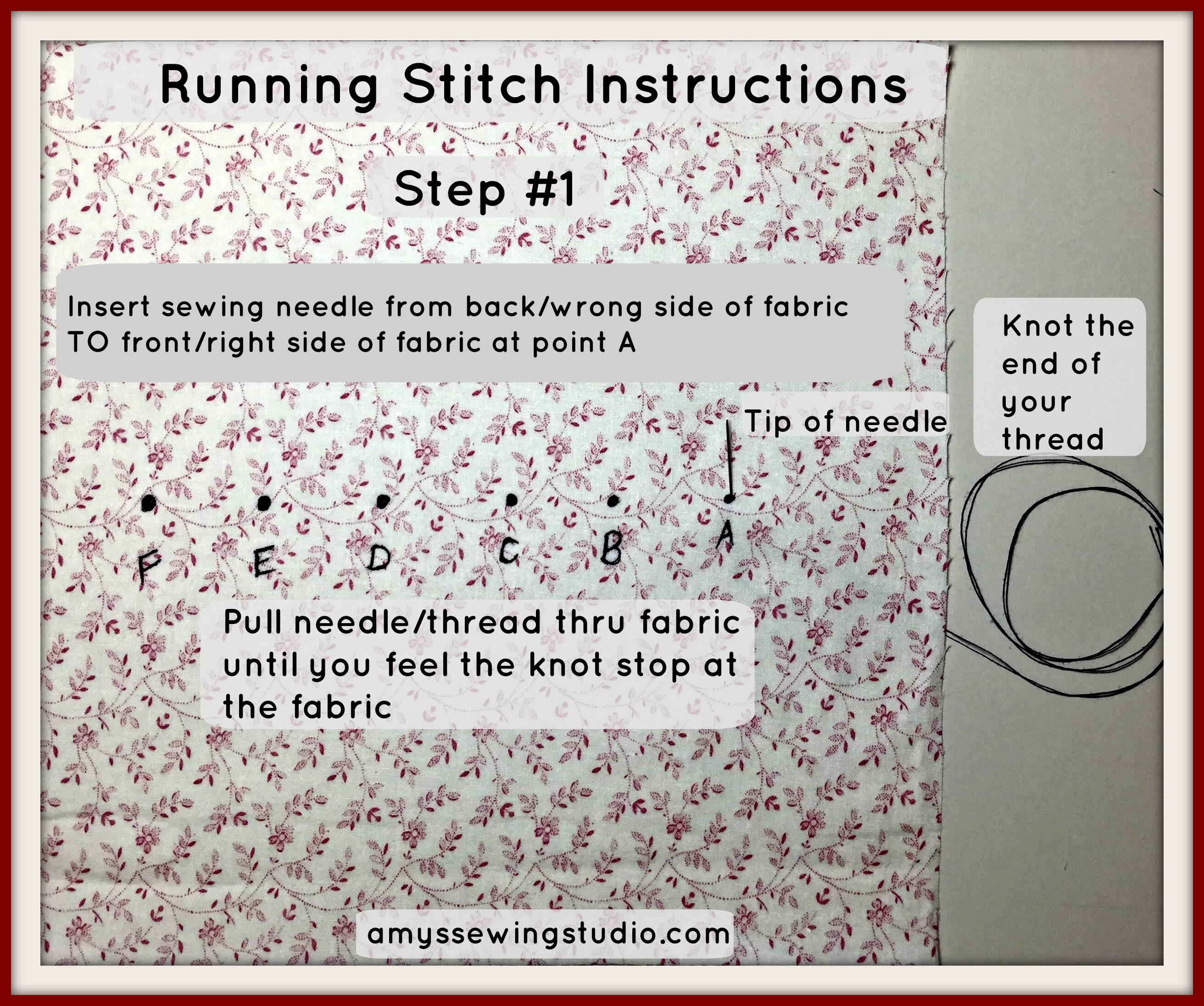 Running Stitch Instructions 1
