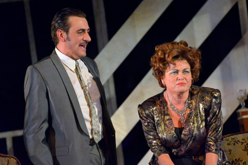 Chris Gascoyne as Ray Say and Vicky Entwistle as Mari in The Rise And Fall of Little Voice