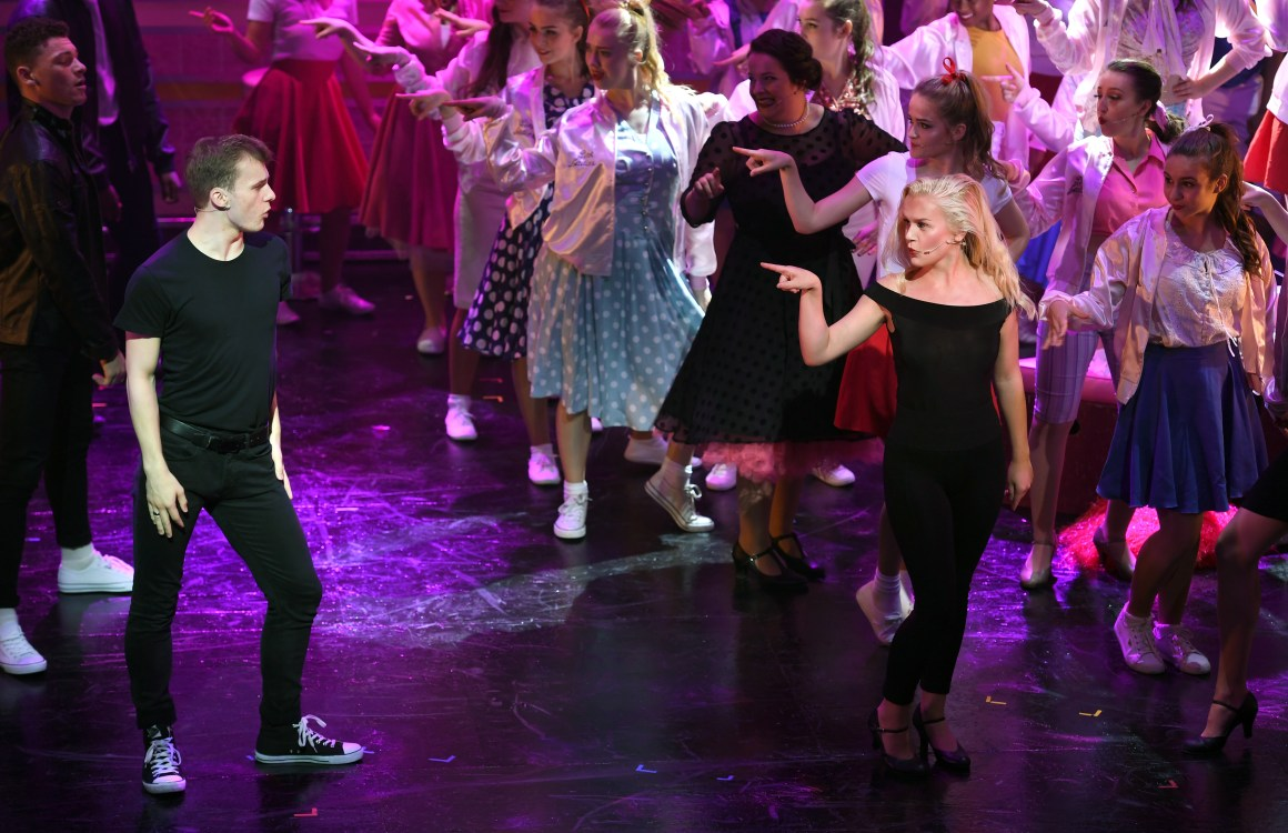 Grease the musical, dress rehearsal at the New Alexandra Theatre, Birmingham. Picture by Sam Bagnall