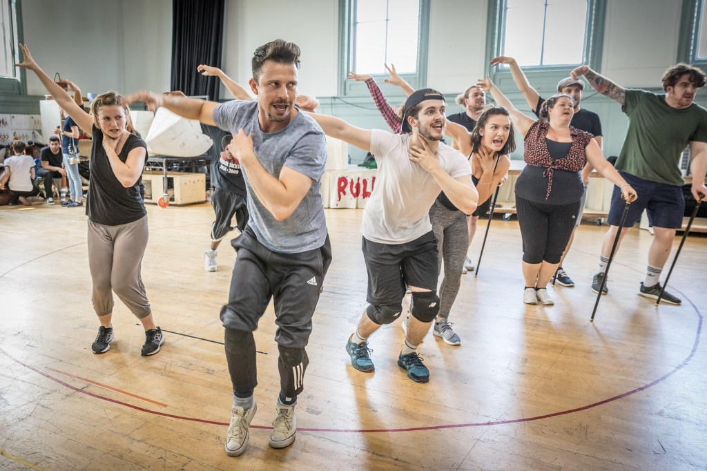 Neil McDermott and the company of The Wind in the Willows in rehearsals Credit Marc Brenner