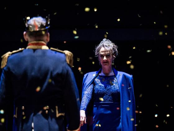 Christopher Eccleston as Mabeth and Niamh Cusack as Lady Macbeth in Macbeth - Credit: Richard Davenport