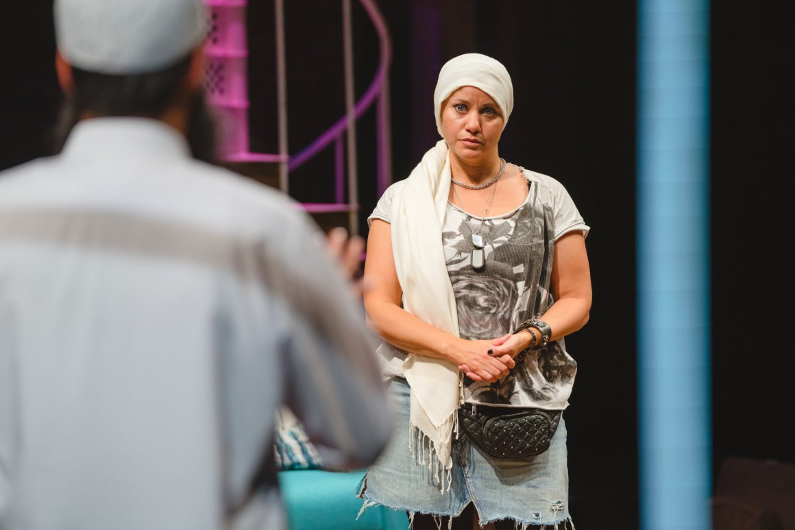 Michelle Bonnard as Darina in the RSC's Tartuffe - Photo credit: Topher McGrillis