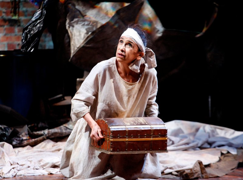 Kathryn Hunter in Timon of Athens at the RSC. Credit: Simon Annand