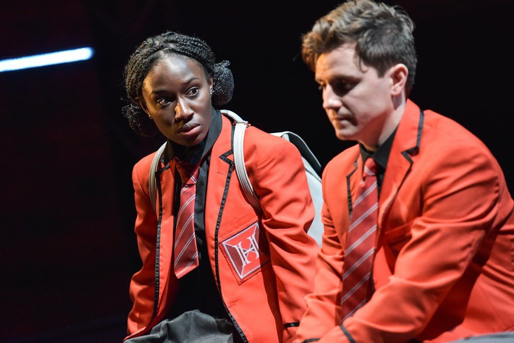 Heather Agyepong and Billy Harris in Noughts and Crosses on the UK Tour