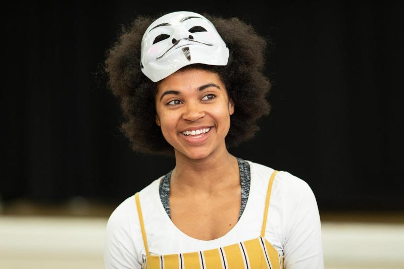 Isabel Adomakoh Young in rehearsals for Venice Preserved at the RSC