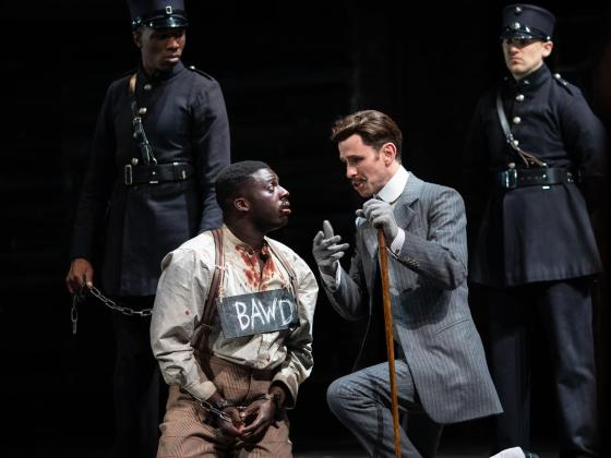 David Ajao as Pompey and Joseph Arkley as Lucio in Measure for Measure