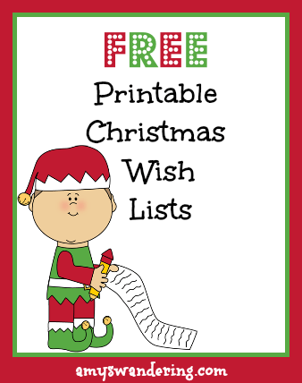 Think Before You Link  Printable Christmas Wish List Template
