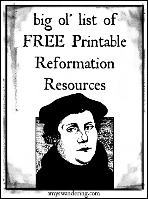 Reformation Coloring Pages : reformation, coloring, pages, Printable, Reformation, Resources, Amy's, Wandering
