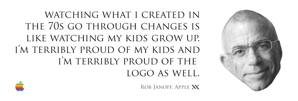 Watching what I created in the 70s go through changes is like watching my kids grow up. I'm terribly proud of my kids and I'm terribly proud of the logo as well. Quote by Rob Janoff who designed the Apple logo.