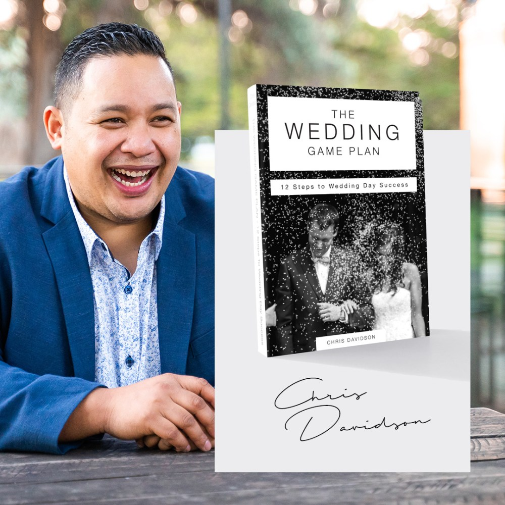We had the opportunity to design the cover for Chris Davidson's first book called The Wedding Plan from SAVVY Entertainment.