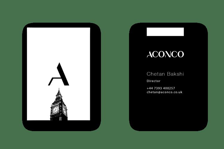 ACONCO Branding - business card design - amyth and amit 1Artboard 52