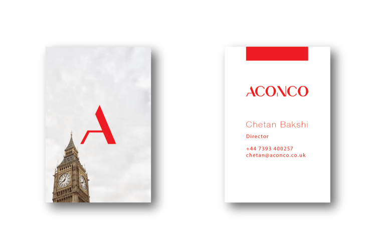 ACONCO Branding - business card design - amyth and amit 3