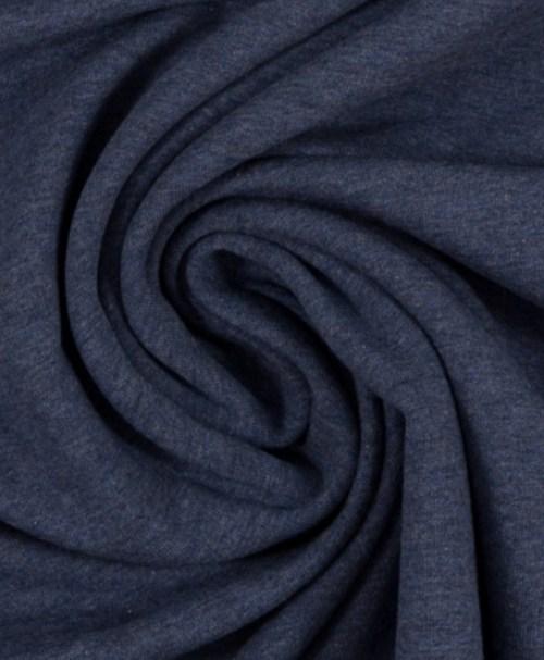 Reststück 0,6m 6,60€  Sommersweat Maike melange dunkelblau
