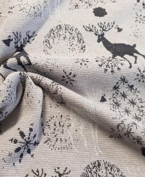 Lurex-Jacquard deer grey