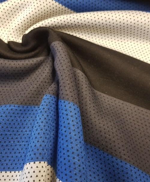 Kuschelsweat big Stripes blue