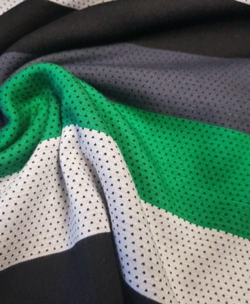 Kuschelsweat big Stripes green