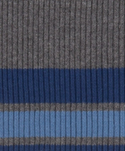 Cuff Bündchen Bonnie Streifen breit dunkelgrau meliert, blau