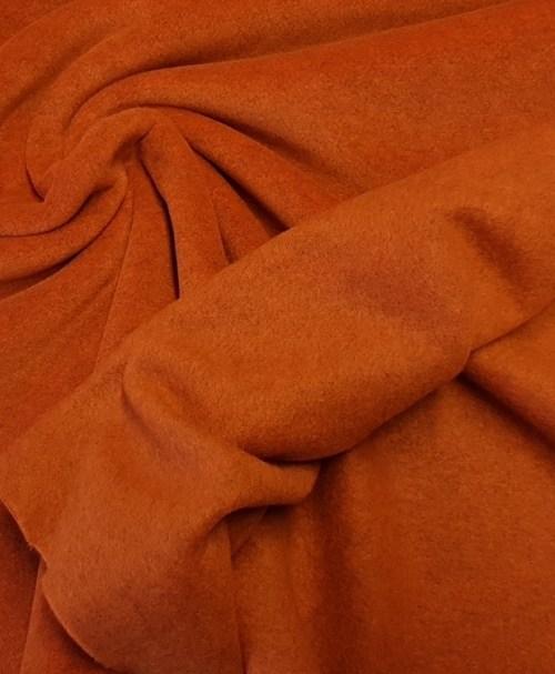 Fleece rostorange meliert