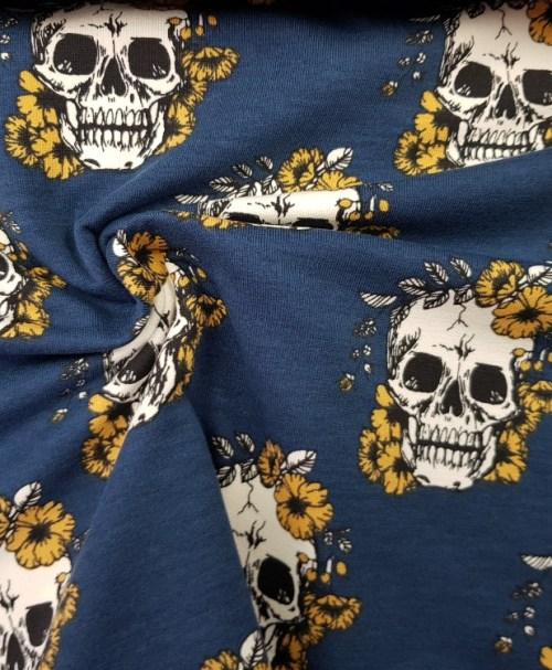 Sweat Skulls blau/senf