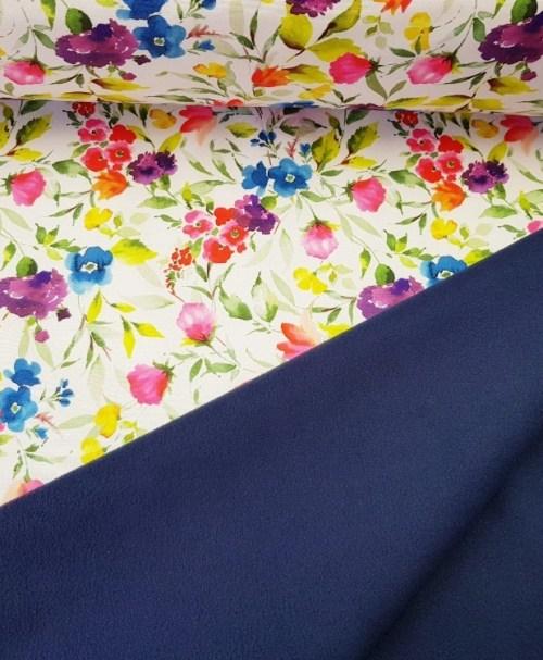 Softshell Aquarell flowers weiß