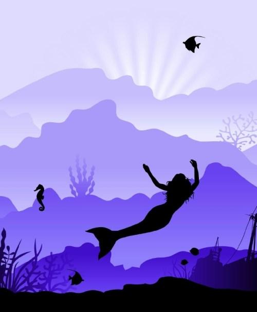 VORBESTELLUNG Jersey Wild Shadows by lycklig design Meerjungfrau lila