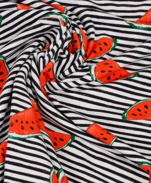 Jersey Jonne Wassermelone, Streifen schwarz/weiß