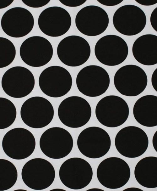 Lillestoff Jersey Riesenpunkte weiß/schwarz