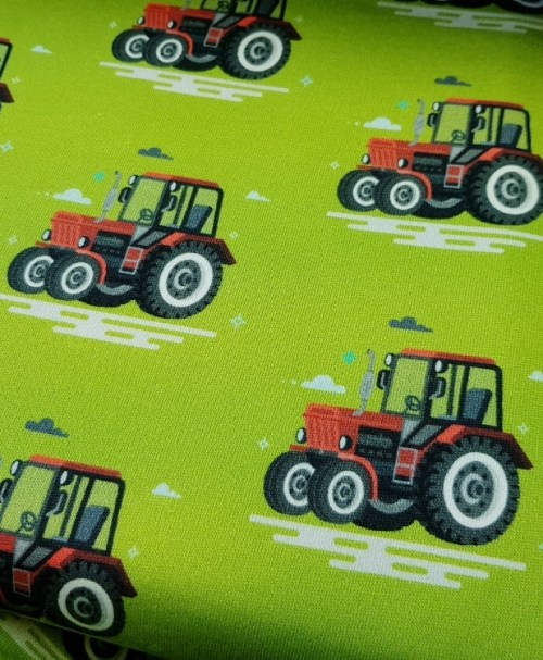 Kuschelsweat Traktor grün