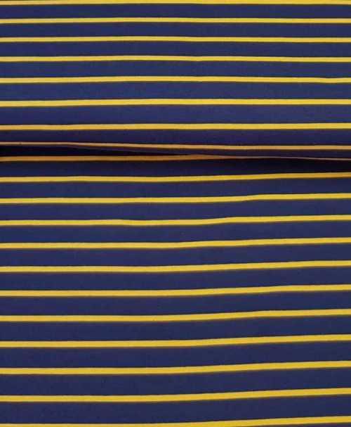 Sommersweat Streifen marine/senf