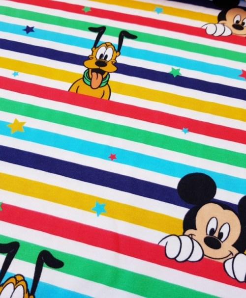 Lizenzjersey Disney Mickey&Co bunte Streifen