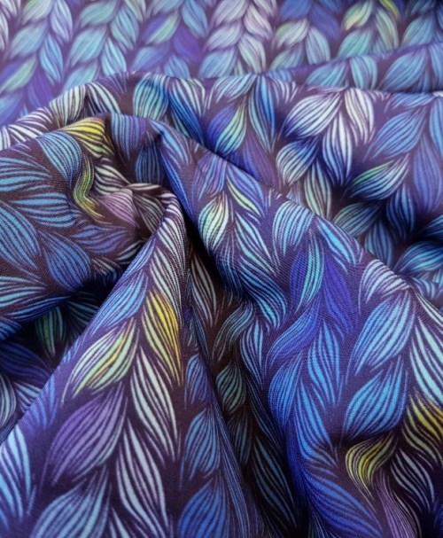 Softshell Zopfmuster blau/neongelb