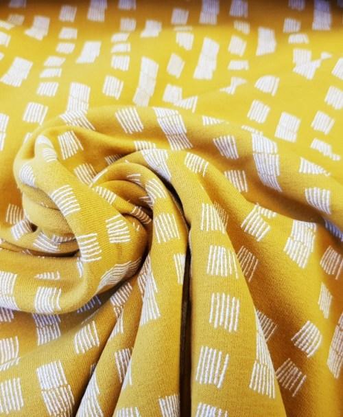 Soft-Sweat Funky Stripes senfgelb