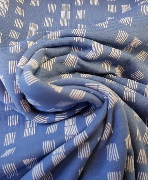 Soft-Sweat Funky Stripes taubenblau