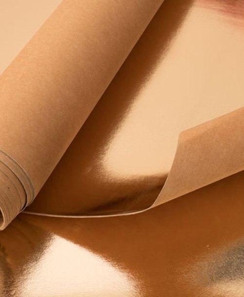 Kreativpapier metallic rosegold