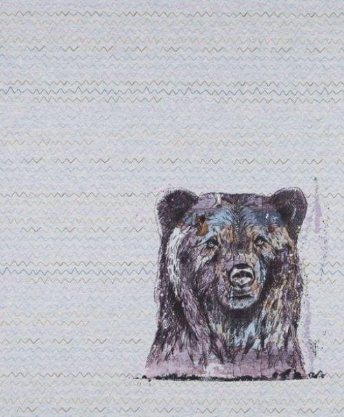 Lillestoff Jersey Rapport Shabby Bear, meliert