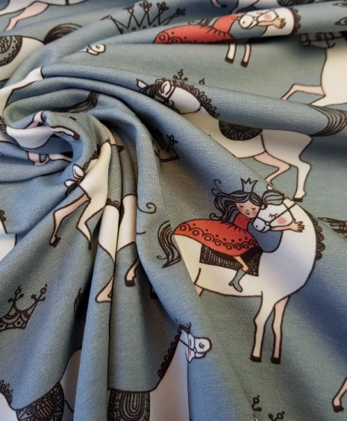 Hilco Jersey Princess grau mit Pferd