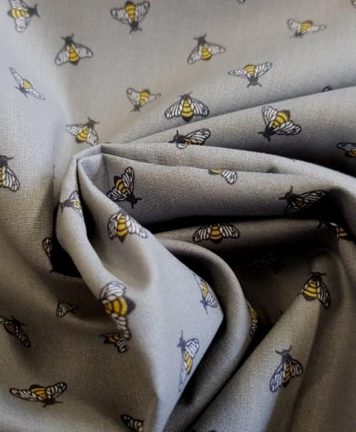 Webware Poplin Dazzling Bees grau