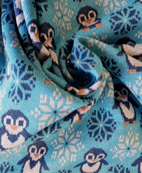 Jacquard RECYCLE Pinguin türkisblau