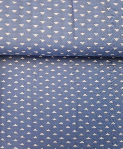 Jacquard-Strick Doubleface Triangles blau