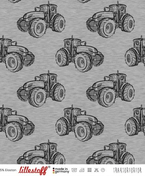 Lillestoff Jersey Traktortortor, grau-meliert