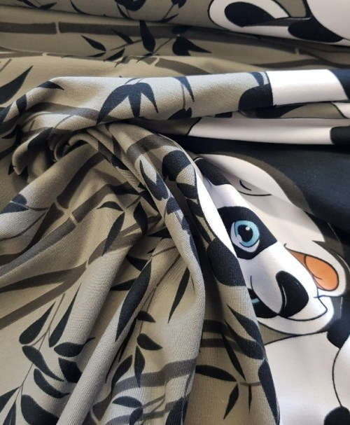 Jersey Bordüre Panda-Family
