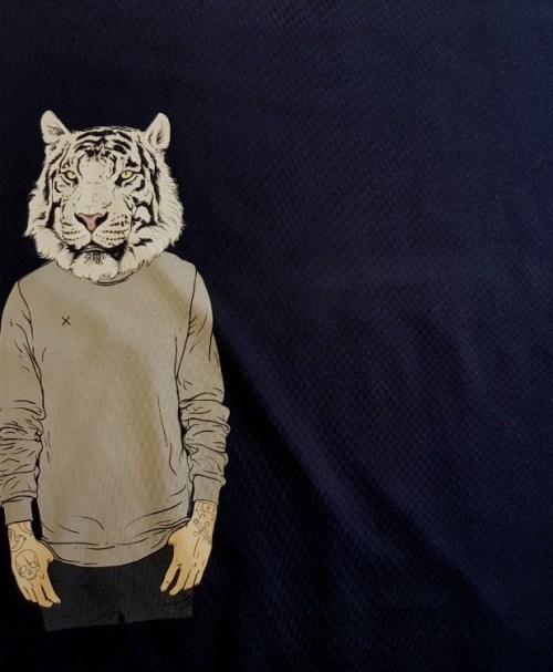 Jersey Panel Tiger-Style nachtblau