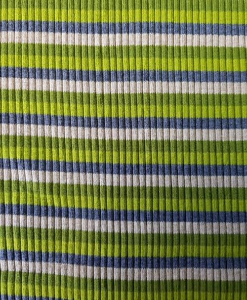 Grobstrick-Bündchen Ringel grün/oliv/grau